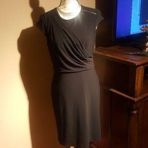 Vince Camuto draped black dress